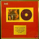 CORRS   - CD Album Award -  TALK ON CORNERS